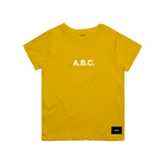 CORE TEE (YELLOW/WHITE)
