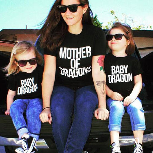 Mother Of Dragons T Shirt for Moms And Daughters