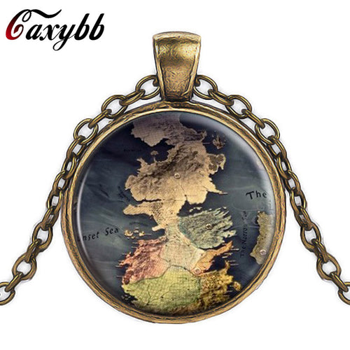 The Game Of Thrones Map Necklace (3 Colors)