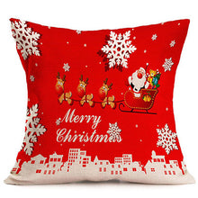 Christmas Decorations For Home Xmas Pillowcase Tree Santa Claus Linen Cushion Cover Set Red Pillow Case