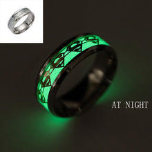 Superman Ring Luminous Stainless Steel Ring [Glow In the Dark]