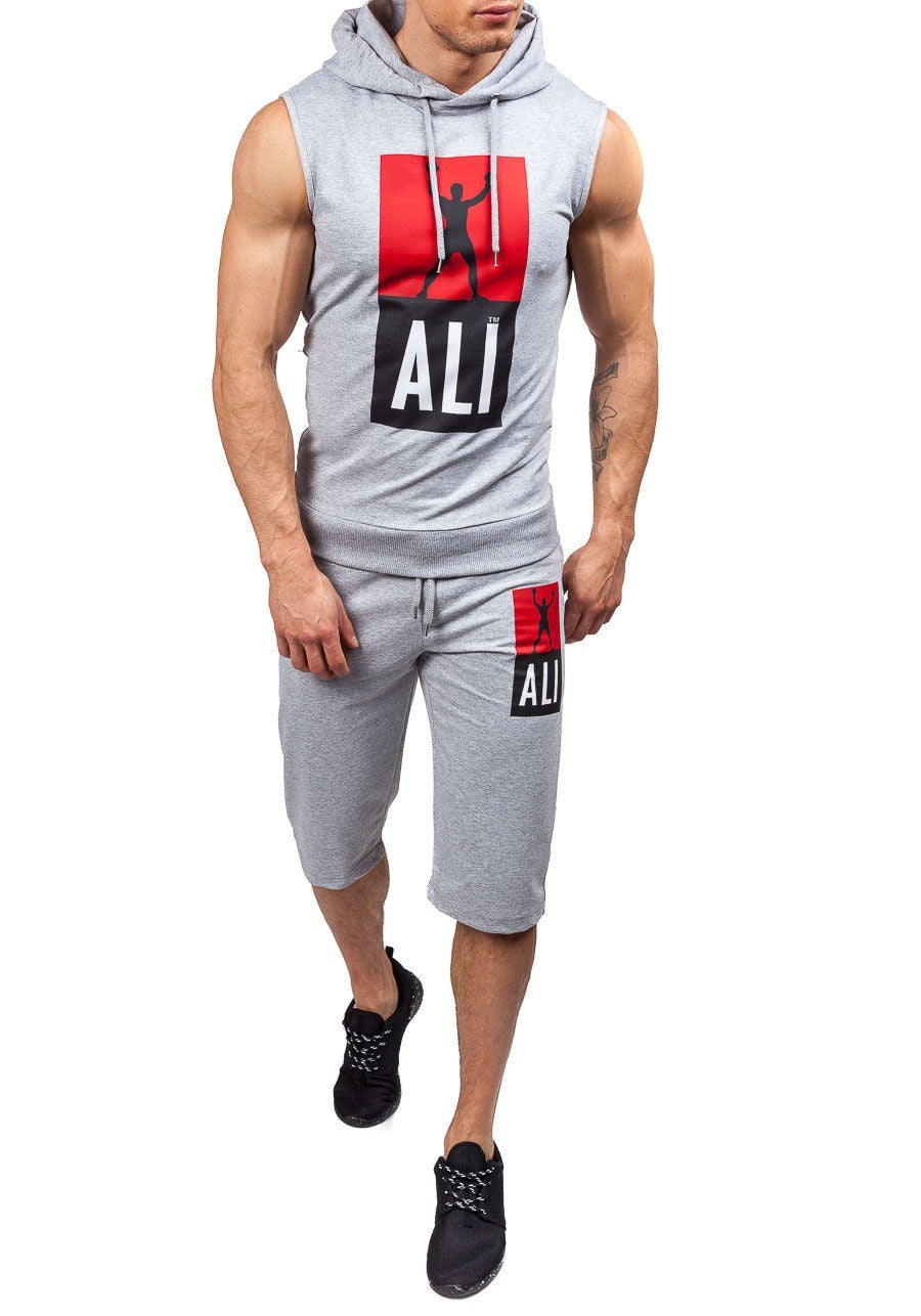 New men's fashion consists of shorts adjustable string and designer hoodies and sleeveless set