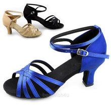6.5cm Women Latin Shoes High Heel Party Cocktail Ballroom Dance Shoes Satins Suede Bottom 3 Colors
