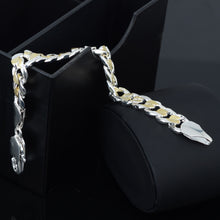 925 Sterling Silver 10MM 8inch Strong Men Chain Bracelet