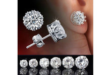 Chic New Retro Classical Silver Crystal Crown Ear Stud Earrings Jewelry Gift