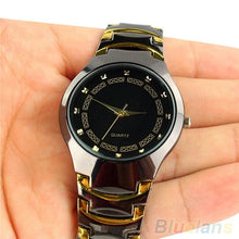 Luxury Men's Business Casual Stainless Steel Link Chain Wristwatch Quartz Round dial Cool bracelet Watch