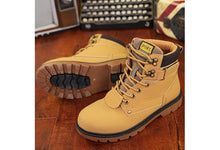 Outdoor Waterproof Rubber Leisure Suede Leather Man Boot, Winter Warm Velvet Fur Flats Shoes.(Color: Yellow, Brown, Black)
