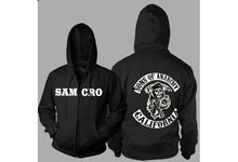 Xmas Gift Sons of Anarchy Thickening cotton-padded jacket SOA winter warm Hoodie Flannel Coats Soft Comfort Cashmere Sweatshirts