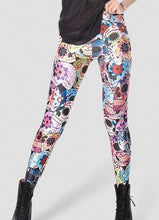 New Sexy Fashion Day of the Dead Leggings Women Digital Printed Pants Skull Leggings