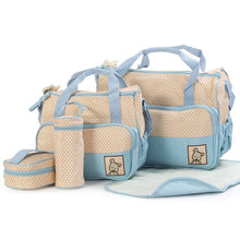 Women Fashion Five In One Diaper Bag Nappy Bag For Mommy And Baby Changing Maternity Infant Stuff Storage Bags