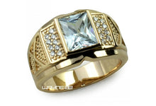 Men's Jewelry 18K Yellow Gold Filled Ring Gift