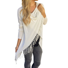 European and American fashion in the long slim ladies classic fringed slash jackets