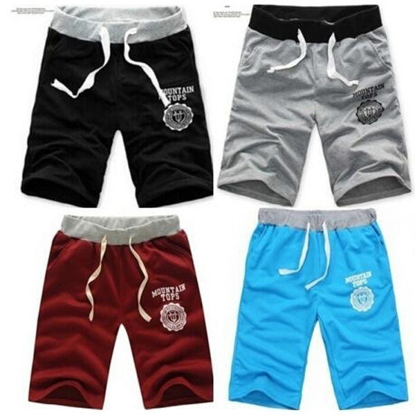 Plus Size Adjustable Men's Boy Cotton Shorts Pants Gym Trousers Sport Jogging Trousers Casual