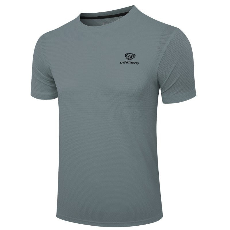 Multi Colors Men Quick Dry Breathable Fitness Athletic Compression Polyester Short Sleeved Tops T-Shirt