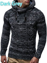Men's Knitted Pullover Sweater Long Sleeved Winter Sweater Hooded Sweater
