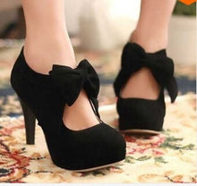 32-42 fashion vintage woman small bowtie platform pumps,ladys sexy high heeled shoes