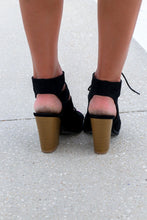 Only You Black Cutout Gladiator Heel