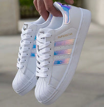 """Adidas"" Women Fashion Reflective Flats Sneakers Sport Shoes"
