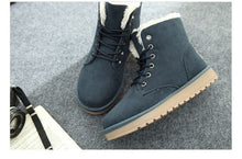 Women's Winter Snow Boots Korean Lady Warm Cotton Shoes Female Thickened Short Snakers