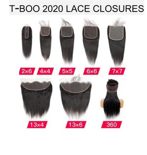 T-BOO LACE FRONTALS AND CLOSURES