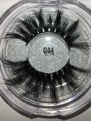 Long Fluffly 5D Mink Lashes 25MM Exoctic #G04