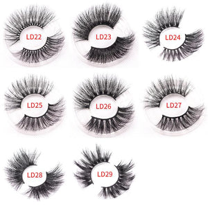 25 mm Eyelash Luxury Mink Lashes Dramatic Effects