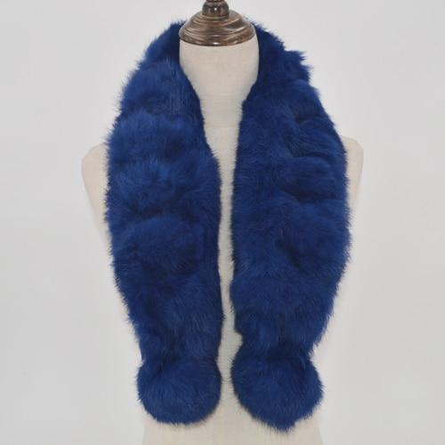Real Rabbit Fur Scarves  4pack 100% Real Natural Rabbit Fur Scarves Four Random Colors-Multiple Colors Real Rabbit Fur