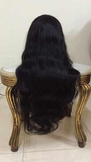 360 Lace Frontal Wig Body Wave 180% Density Peruvian Human Hair Wigs With Baby Hair Pre Plucked