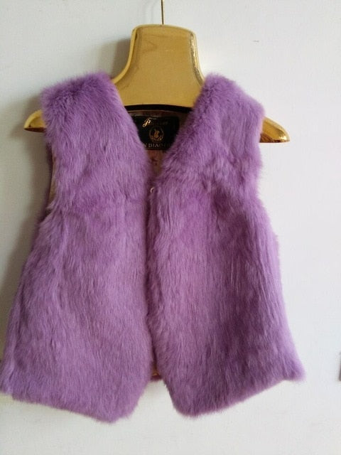 2020 new genuine rabbit fur vest  plus size women's short rabbit fur coat winter fur vest