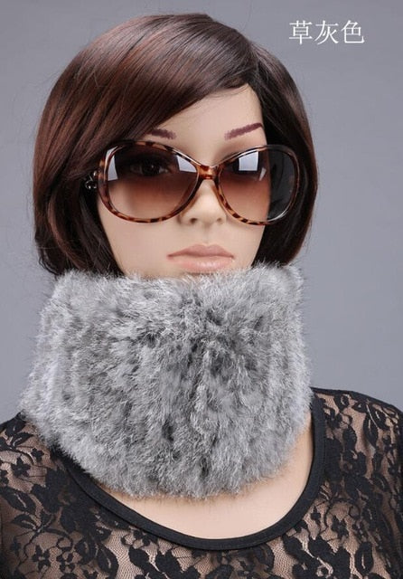 Women's Fur Scarves 100% Collar Velvet Rabbit Warm Style Woman Winter 2019 Various Color Scarf Min Order $4.9,mix Ok
