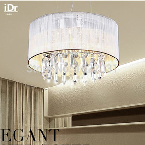 Handmade Cloth K9 Crystal Chandeliers  Upscale atmosphere Lights Modern lamps