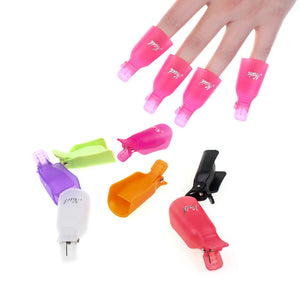 Plastic Nail Art Soak Off Cap Clip Good Quality 10Pcs UV LED Gel Polish Remover Wrap Tool Nails Remover Cap