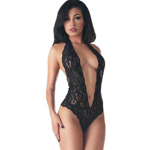 T-BOO Babydoll Sexy Teddy Lingerie Halter Black Lace Women's Underwear Backless Erotic Lingerie Lady Temptation Intimate Sexy Costumes