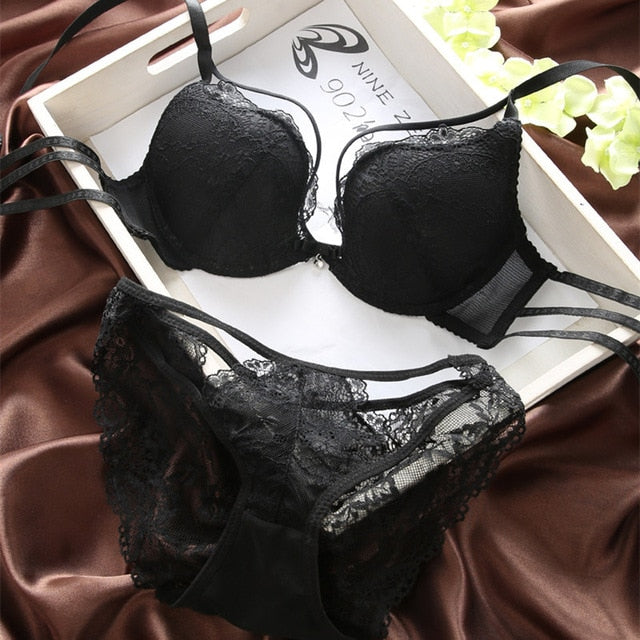 T-BOO Underwear Set Bra Set Women Lingerie Bra & Briefs Set Sexy Intimate Brassiere Panties Lace Push Up Thin Lingerie