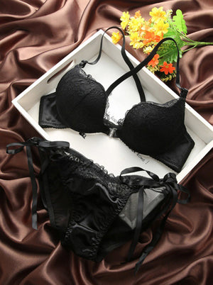 Sexy Lingerie for Women Lace Bra Set and Underwear Intimates Push Up Bra Panties Set Underwear Set For Female Front Closure