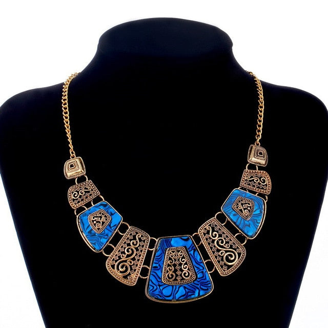 Bohemia Ethnic Necklace & Pendant Multi Layer Beads Jewelry Vintage Statement Long Necklace Women Handmade Acrylic Jewelry