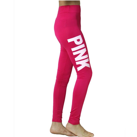 TBOO Women High Waist Slim VS Pink Legging Women Love Pink Letter Print Workout Leggings Sporting Slim Fitness Leggings