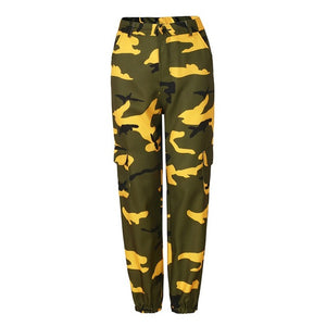 2018 Women Fashion Camouflage Jogger Pants Hip-hop Military Harem Pants Pantalon Femme Trouser Ankle-Length Cotton Camo Pants