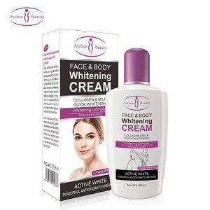 Aichun Body Cream For Dark Skin Bleaching Brightening Body Lotion Whitening Cream 120ml Private Parts Formula Armpit Whitener