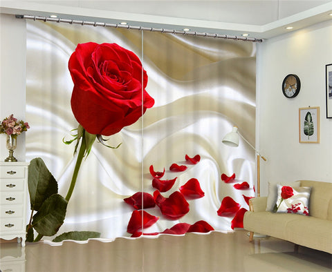 Modern window curtains home decoration fashion fabrics for curtains living room 3D flowers window treatment balcony