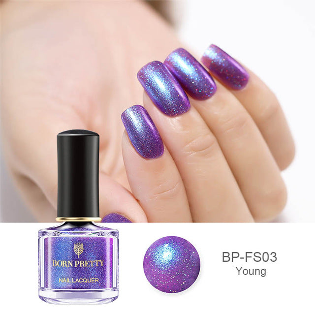 Chameleon Mermaid Nail Polish 6ml Shell Glimmer Varnish Summer Series Glitter Nail Lacquer Polish BORN PRETTY