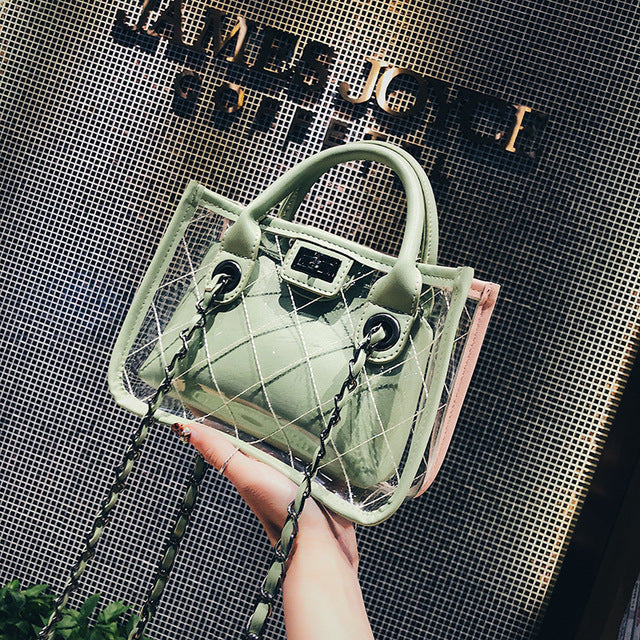 2-in-1  Women Handbags Bucket Bags 2018 Fashion Shoulder Bag Elegant Small Handbag for Ladies