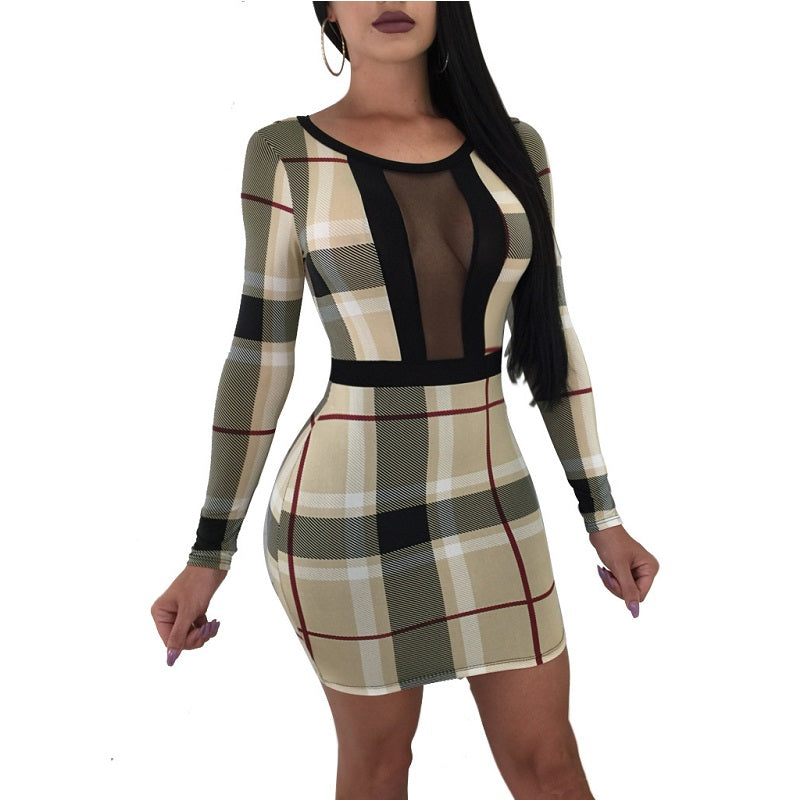Sexy Dress Fashion Womens Long Sleeve Dress Casual Dresses Party Vestidos S-3xl