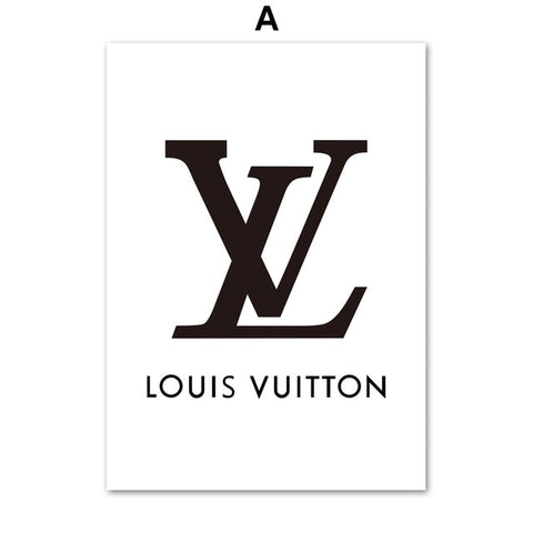 Home Decor Wall Art Fashion Paris Brand Logo L V Canvas Painting Nordic Posters And Prints Living Room Pop Art