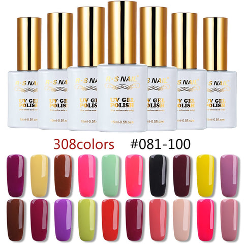 Gel Nail Polish Multi Colors Gel Lacquer Gel Varnish Manicure Set UV LED Color Gel Varnish 15ml