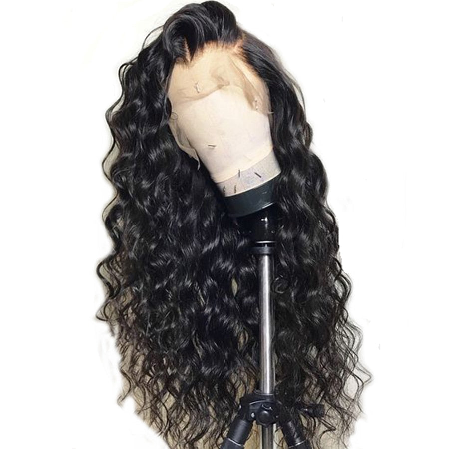 Pre Plucked Lace Front Human Hair Wigs Curly Lace Front Human Hair Wigs Indian Remy Wig 150%