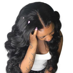 T-BOO 360 Lace Frontal Wig Pre Plucked Lace Front Wig Body Wave 180% Density Brazilian Human Hair Wig Remy Hair