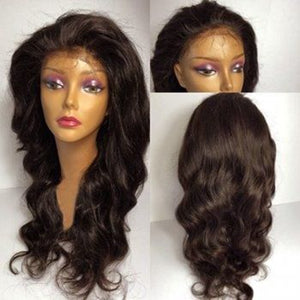 Glueless Body Wave  Full Lace Human Hair Wigs With Baby Hair Pre Plucked Wavy Wigs Brazilian Hair