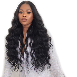 Full Lace Human Hair Wigs 130%  Body Wave Wig Brazilian Full Lace Wigs Pre Plucked Bleached Knots Remy T-BOO