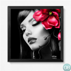 Modern Fashion Nail Canvas Painting Prints Sex Women Art Posters Pictures for Beauty Shop Modern Home Decor No Frame
